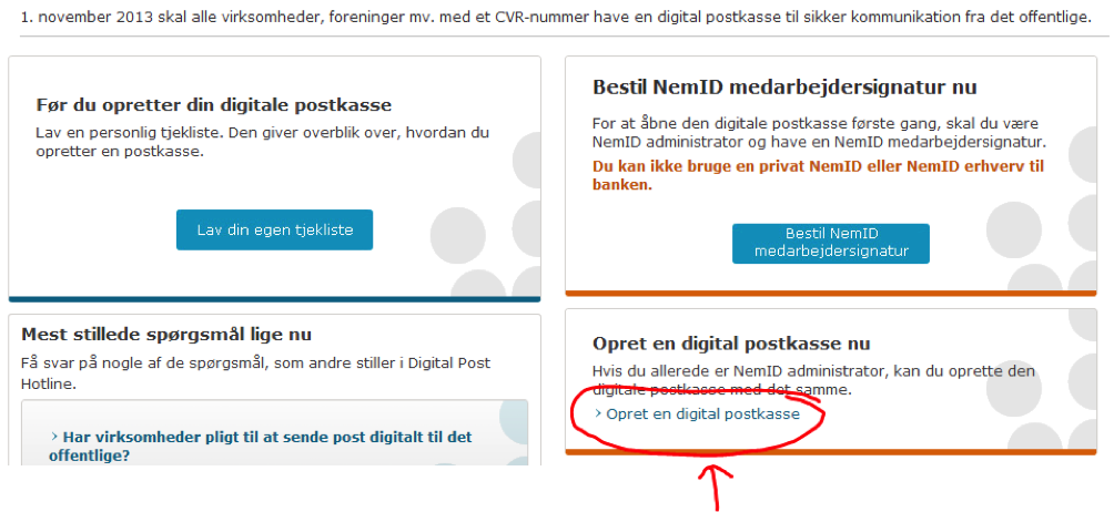 Den Digitale Postkasse