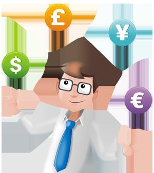 Billy Regnskabsprogram og jonglering af valuta