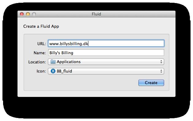 Billy Regnskabsprogram og fluid app